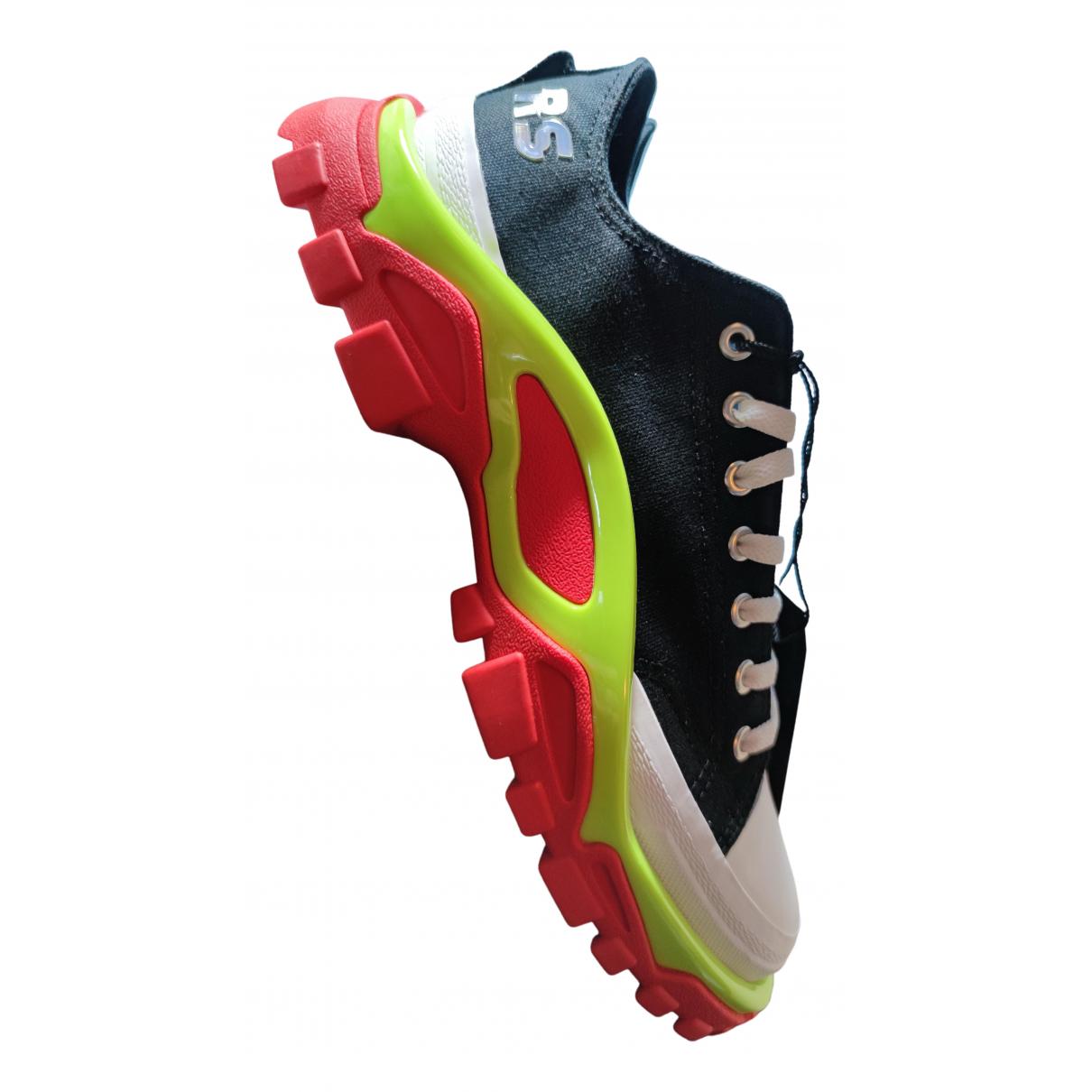 Adidas X Raf Simons Detroit Runner Sneakers in  Bunt Leinen