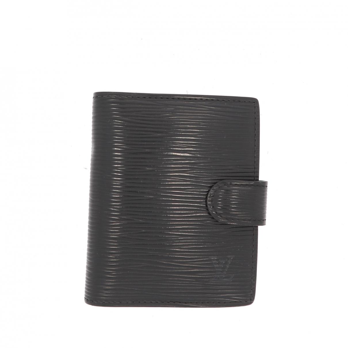 Louis Vuitton \N Kleinlederwaren in  Schwarz Leder