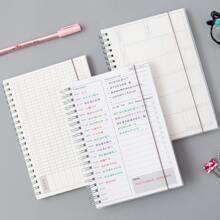 Tagesablauf Spirale Notizbuch 1 Stueck