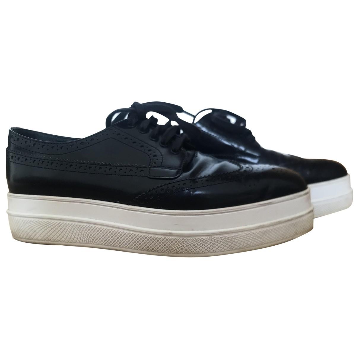 Prada \N Sneakers in  Blau Leder
