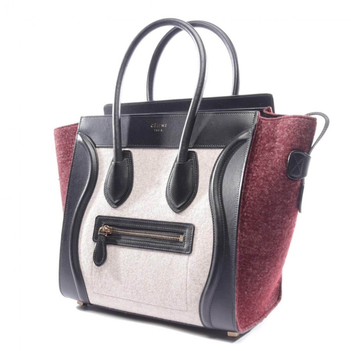 Celine - Sac a main Luggage pour femme en toile - multicolore