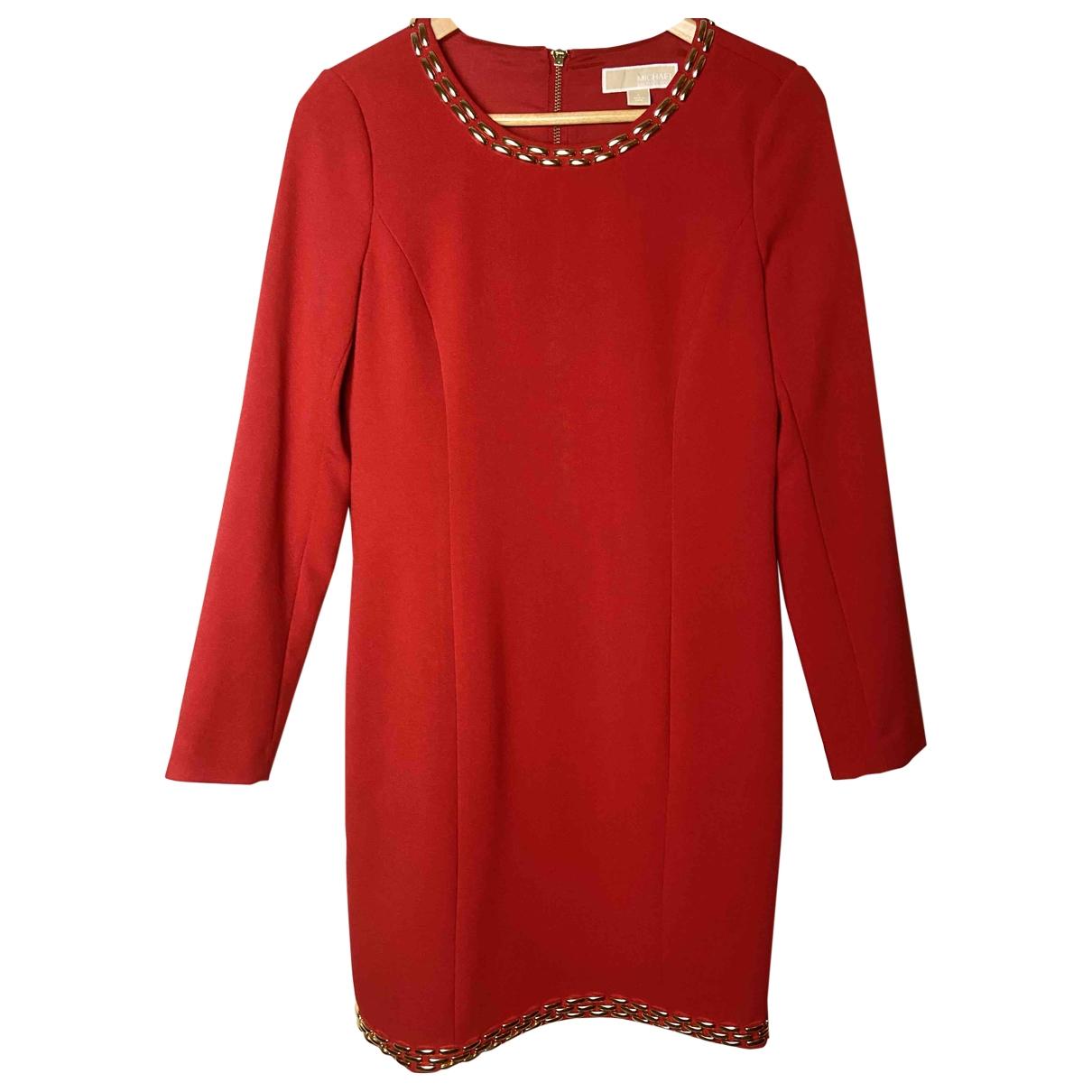 Michael Kors \N Kleid in  Rot Synthetik