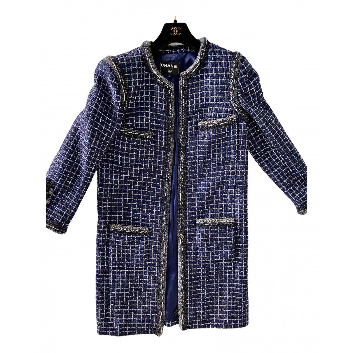 Chanel \N Jacke in  Marine Polyester