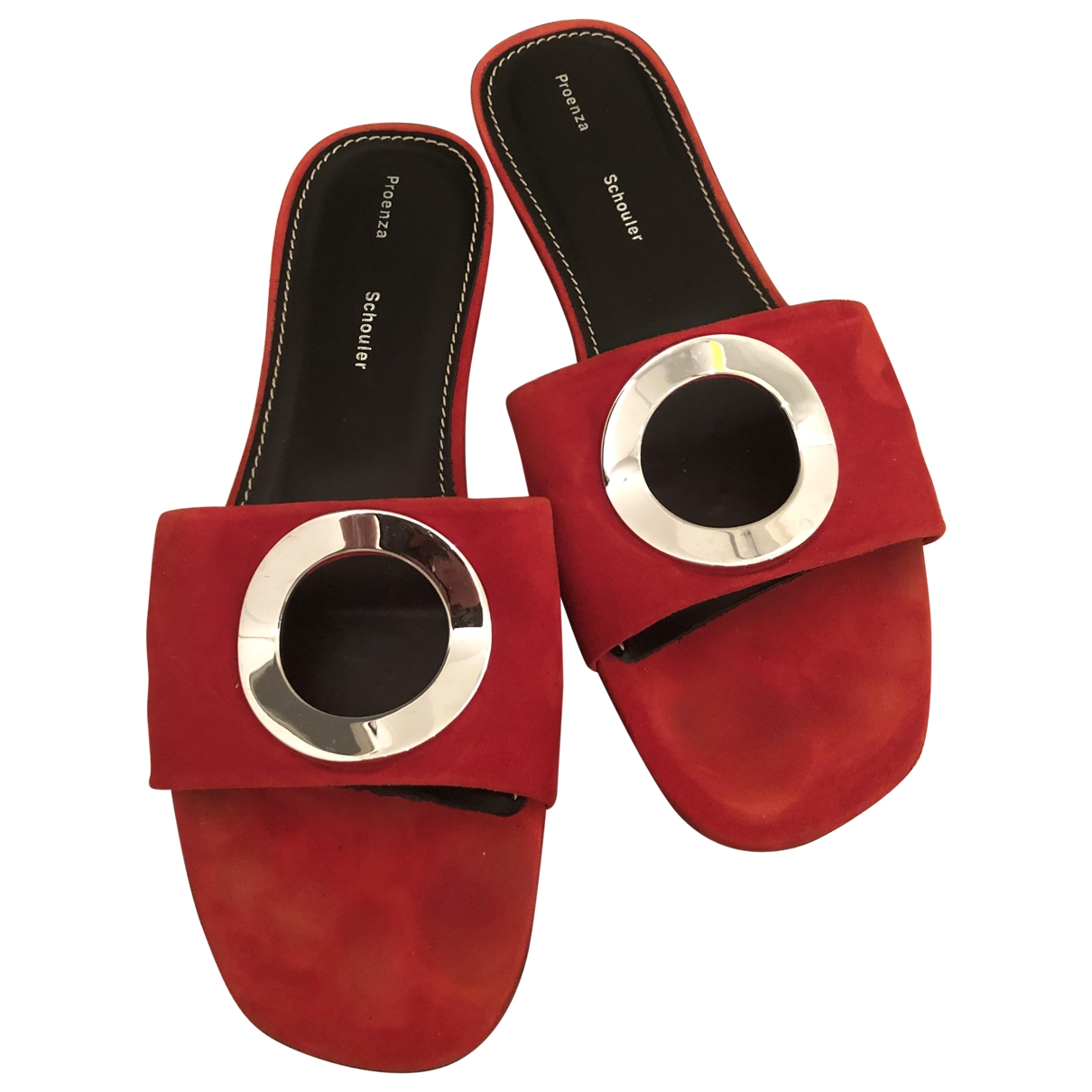 Proenza Schouler \N Sandalen in  Rot Veloursleder