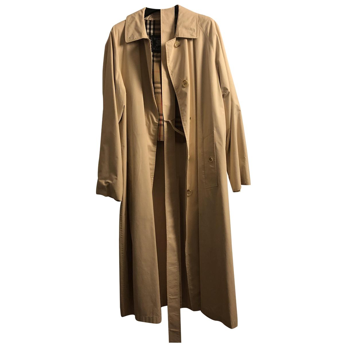 Burberry \N Beige Cotton Trench coat for Women 46 IT
