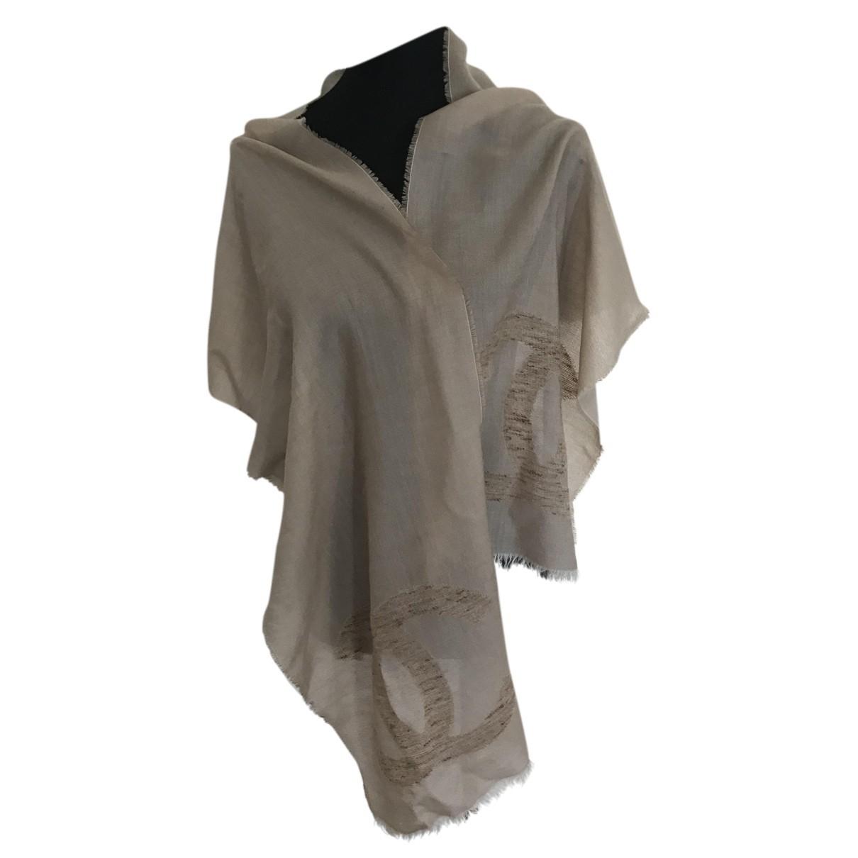 Chanel N Beige Cashmere scarf for Women N