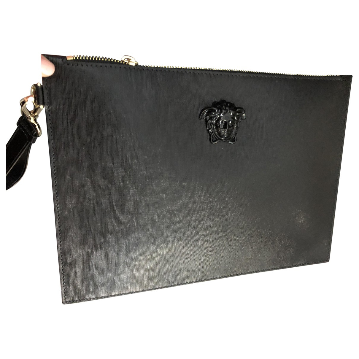 Versace \N Black Leather Clutch bag for Women \N
