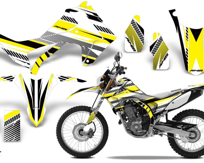 AMR Racing Dirt Bike Graphics Kit Decal Sticker Wrap For Honda CRF250L 2013-2016áTECK YELLOW
