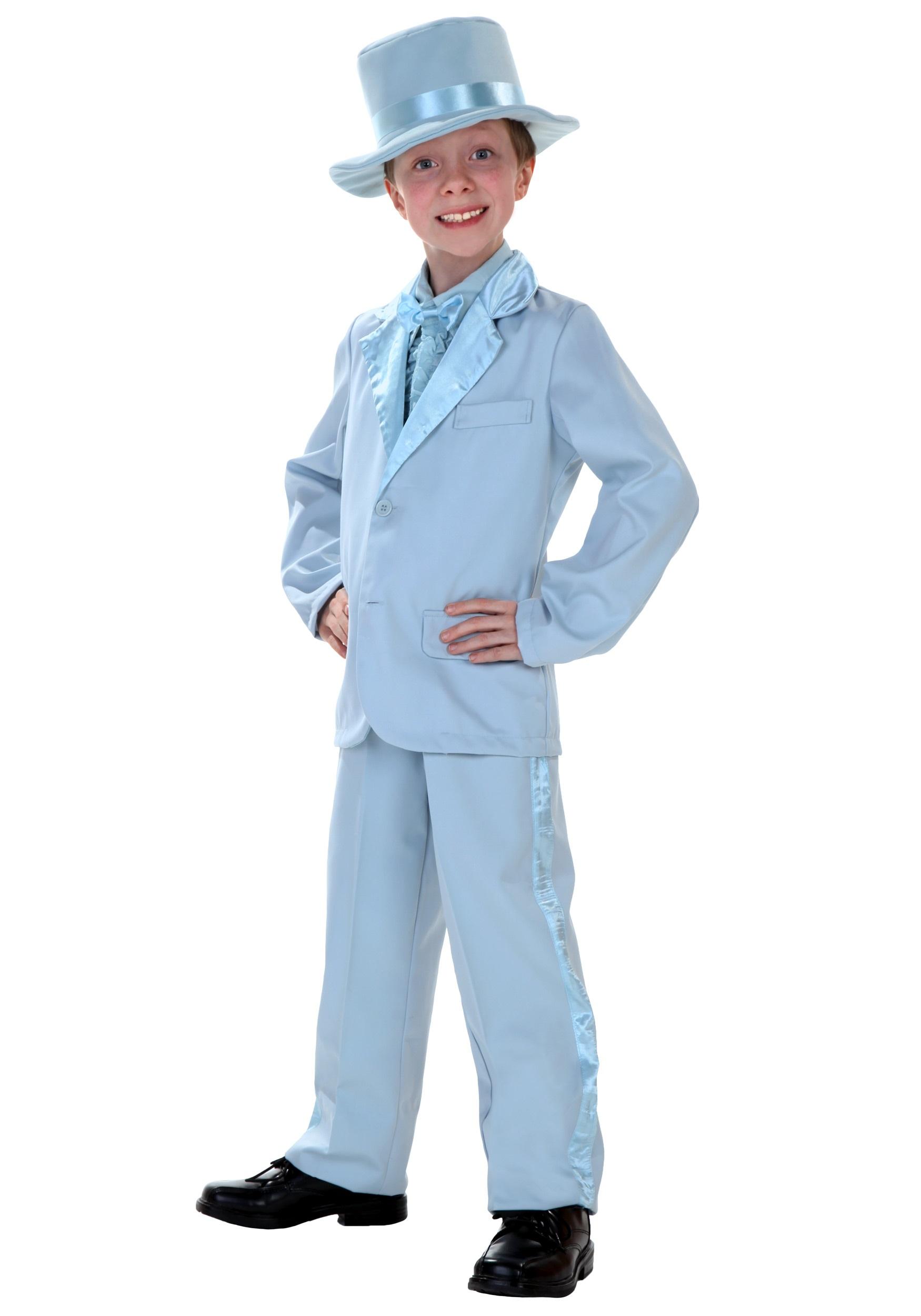 Blue Tuxedo Costume for Kids