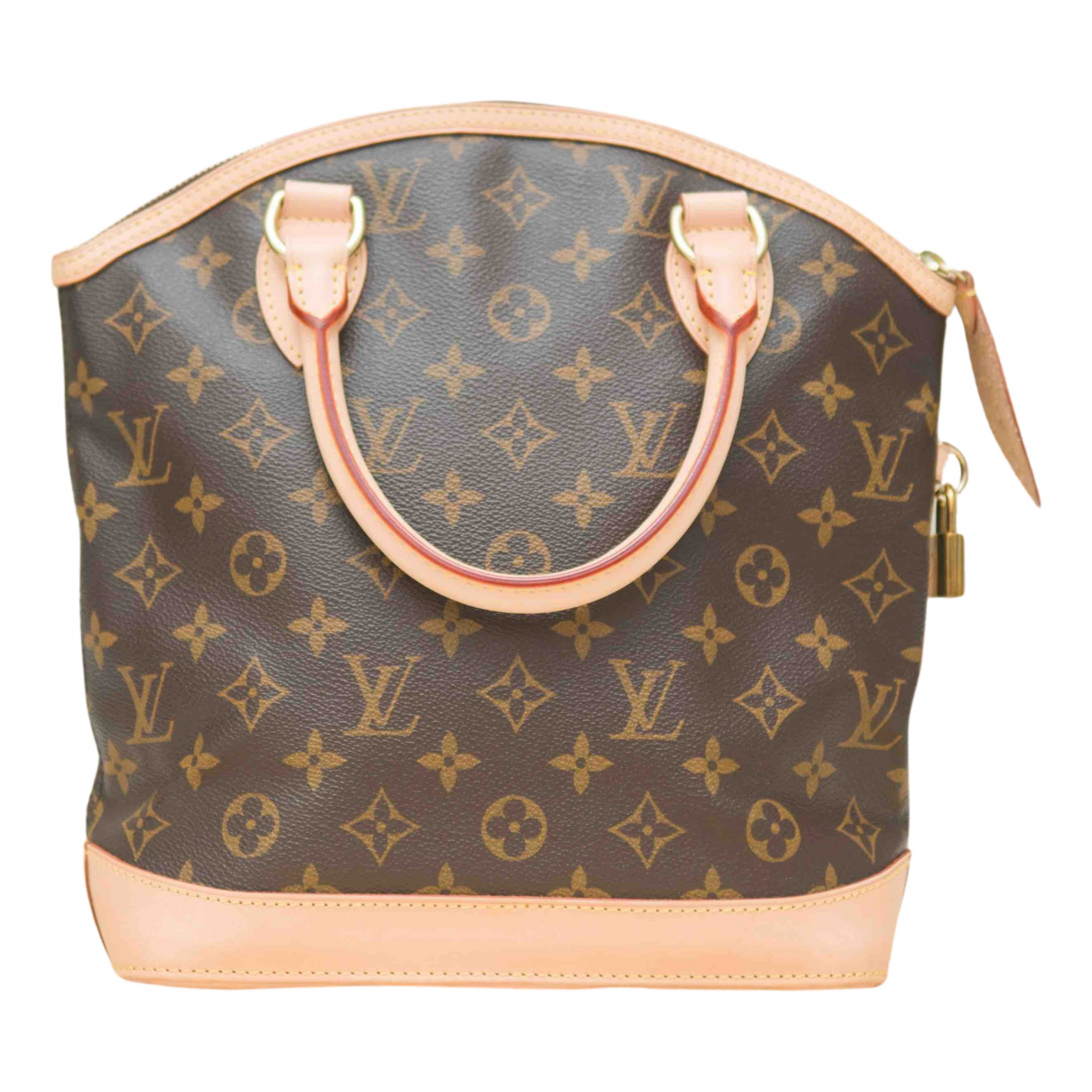 Louis Vuitton - Sac a main Lockit pour femme en toile - marron