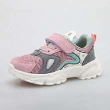 Toddler Girls Color Block Velcro Strap Sneakers
