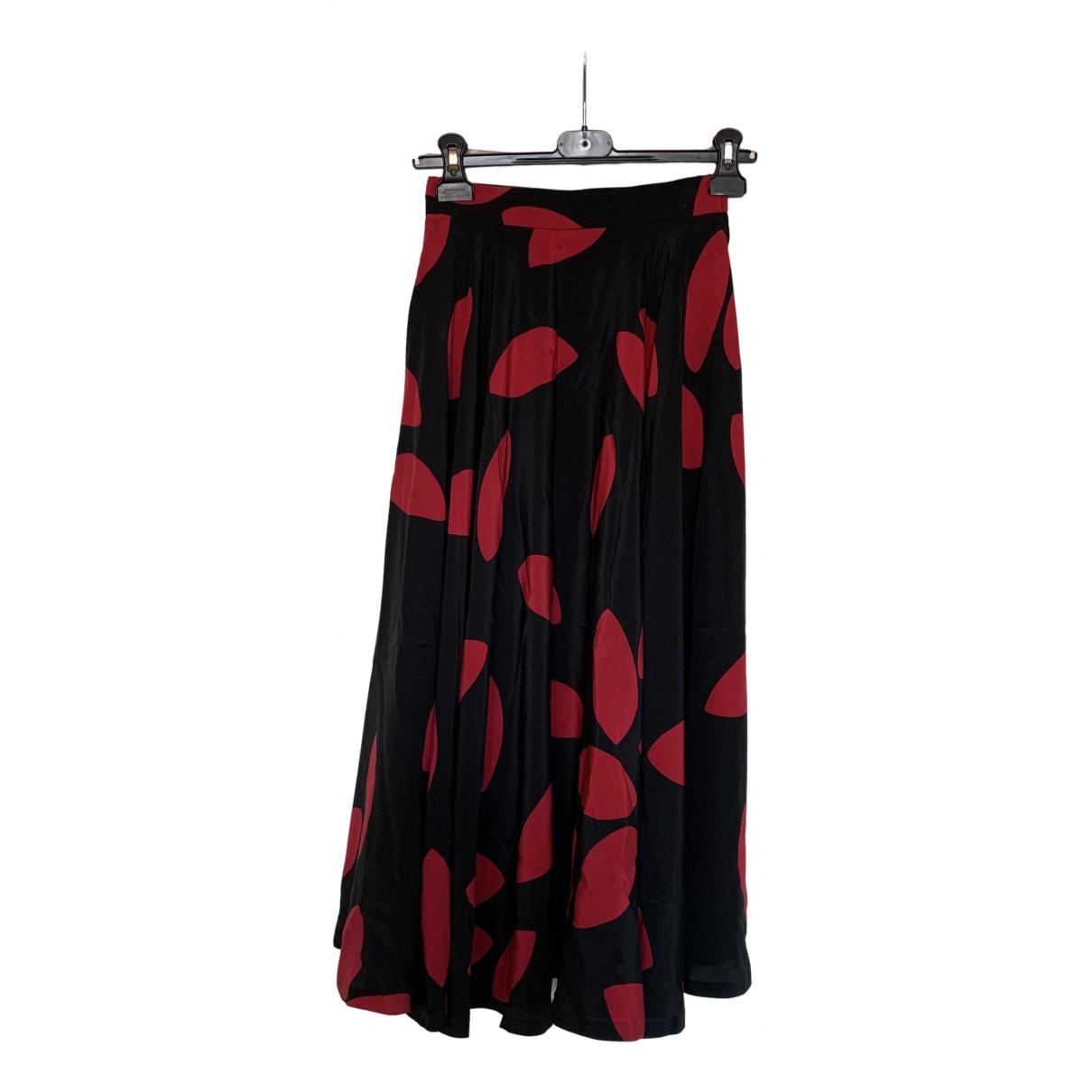 Non Signé / Unsigned N Black Silk skirt for Women 36 FR