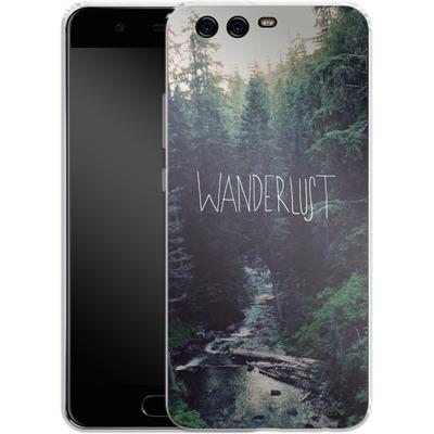 Huawei P10 Silikon Handyhuelle - Wanderlust - Rainier Creek von Leah Flores