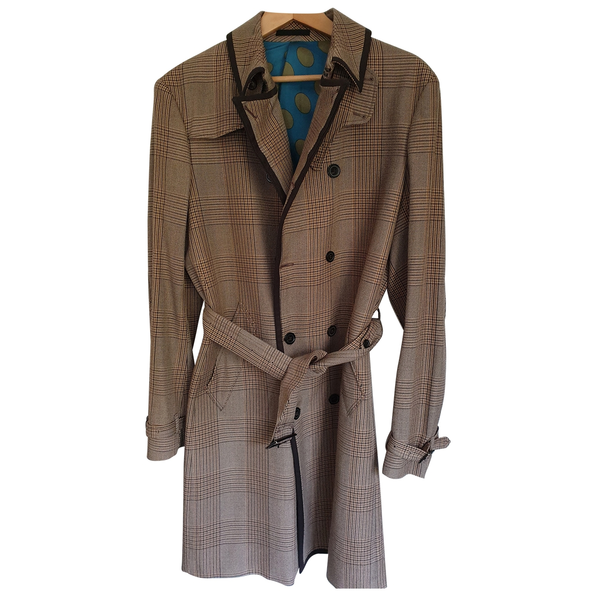 Kenzo \N Beige Wool coat  for Men 52 FR
