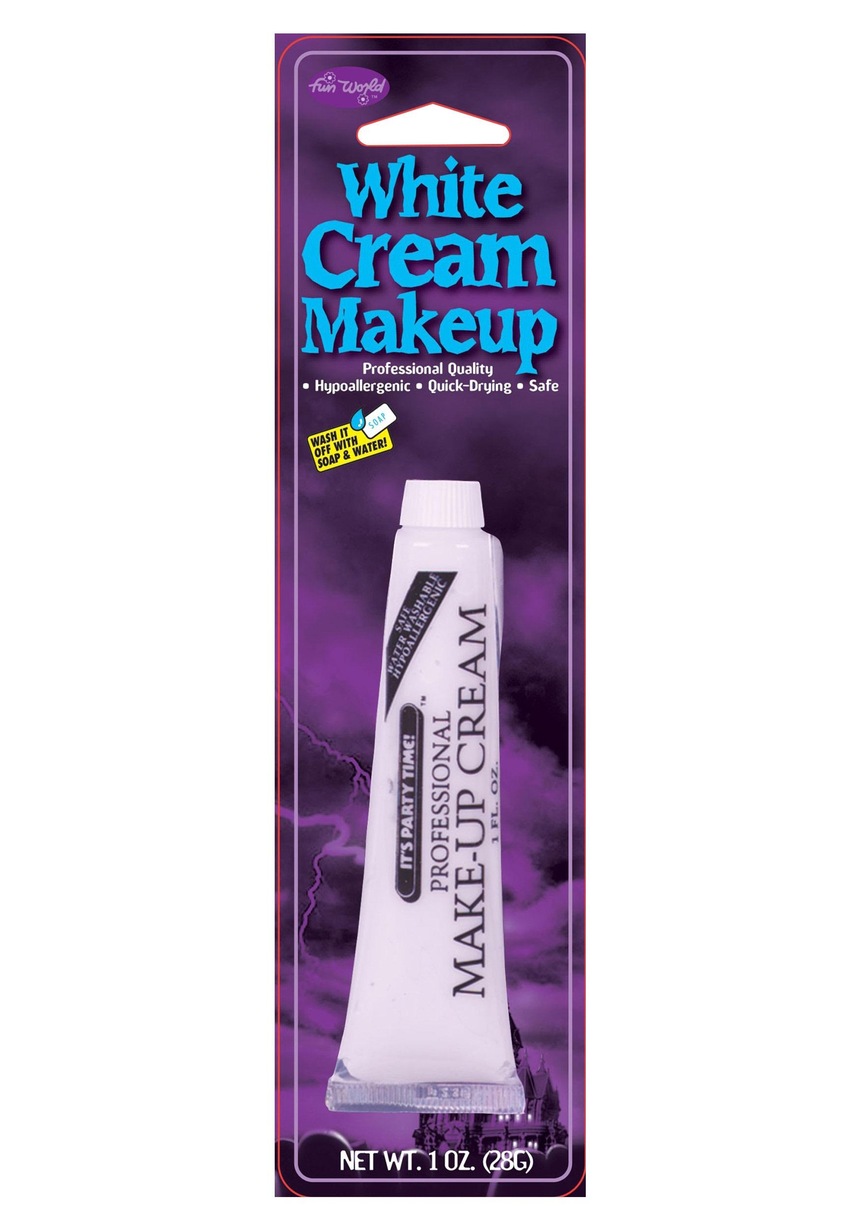 Fun World Professional Cream Makeup - White