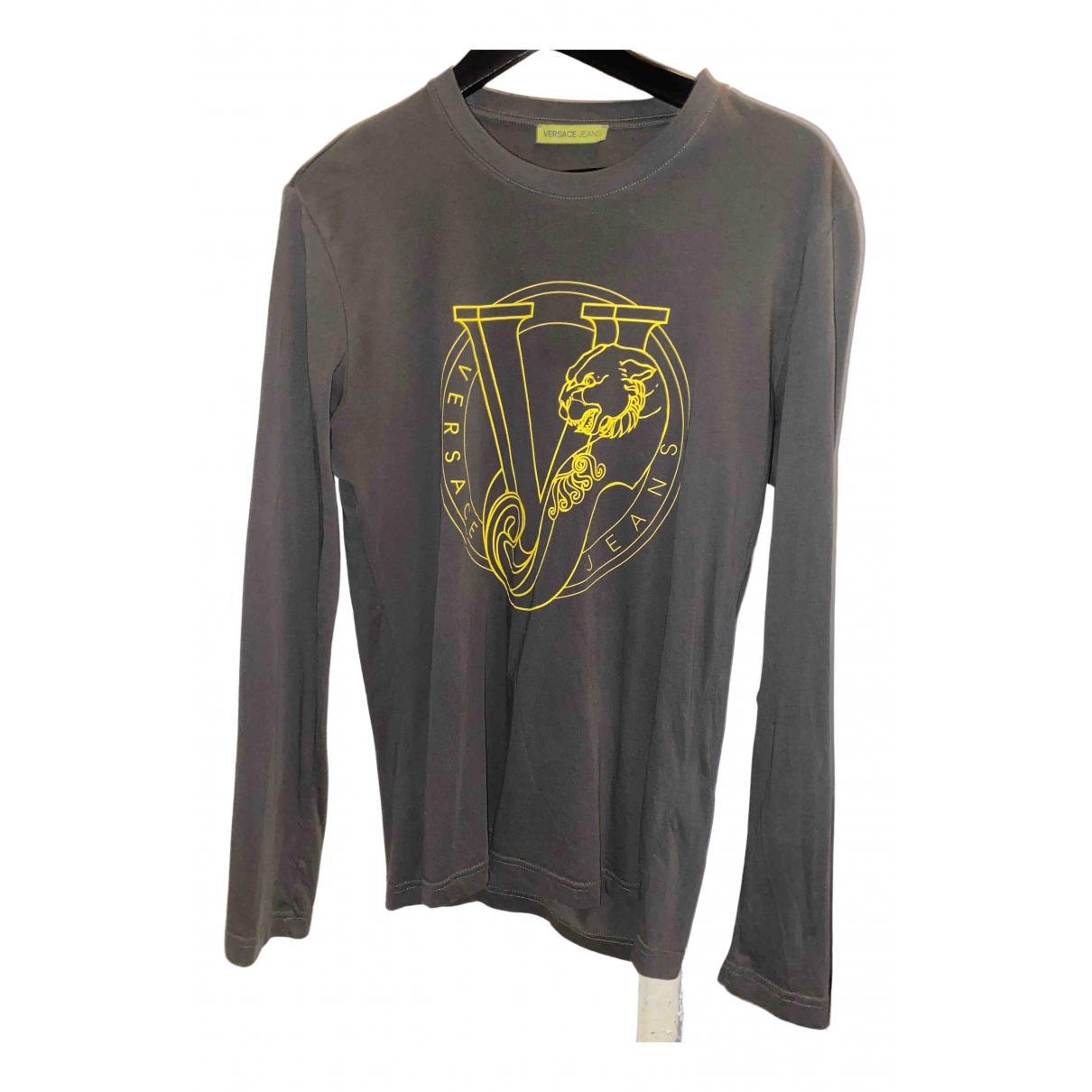 Versace Jeans \N Pullover.Westen.Sweatshirts  in  Grau Baumwolle