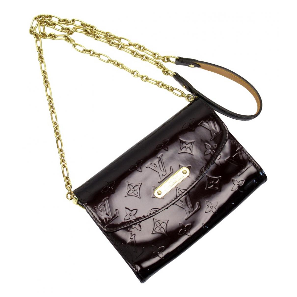 Louis Vuitton - Pochette   pour femme en cuir verni - marron