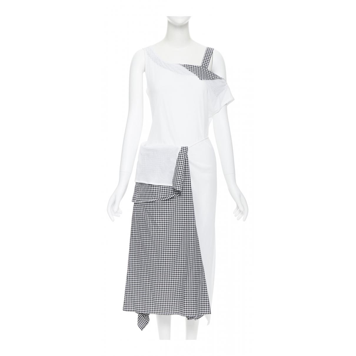 Yohji Yamamoto \N Kleid in  Weiss Baumwolle