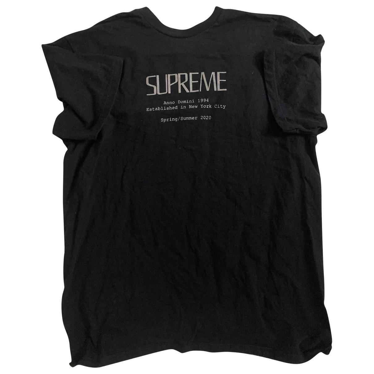 Supreme - Tee shirts   pour homme en coton - marine