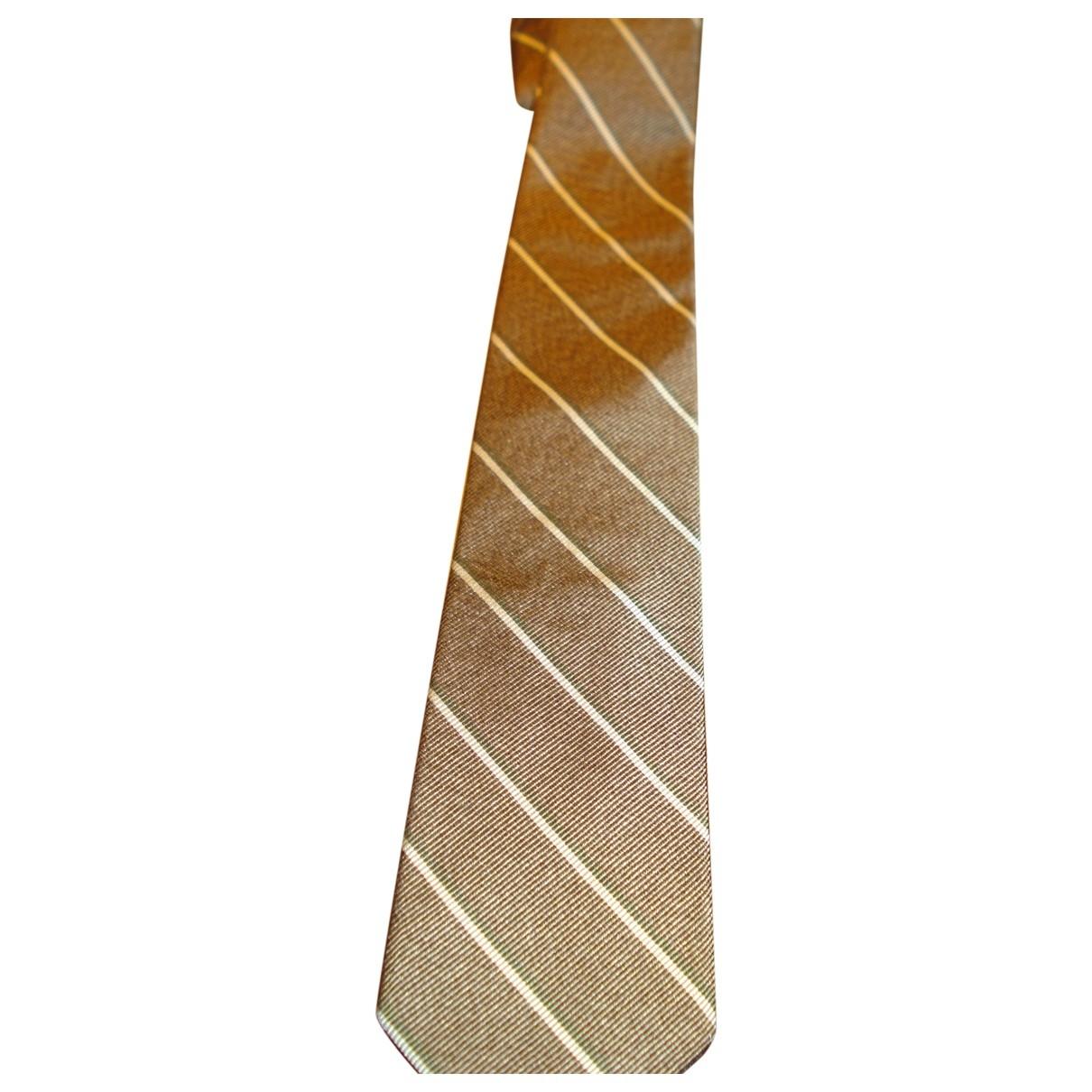Breuer - Cravates   pour homme en soie - marron