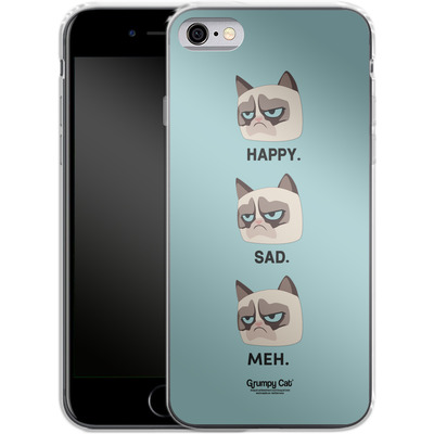 Apple iPhone 6s Silikon Handyhuelle - Facial Expressions von Grumpy Cat