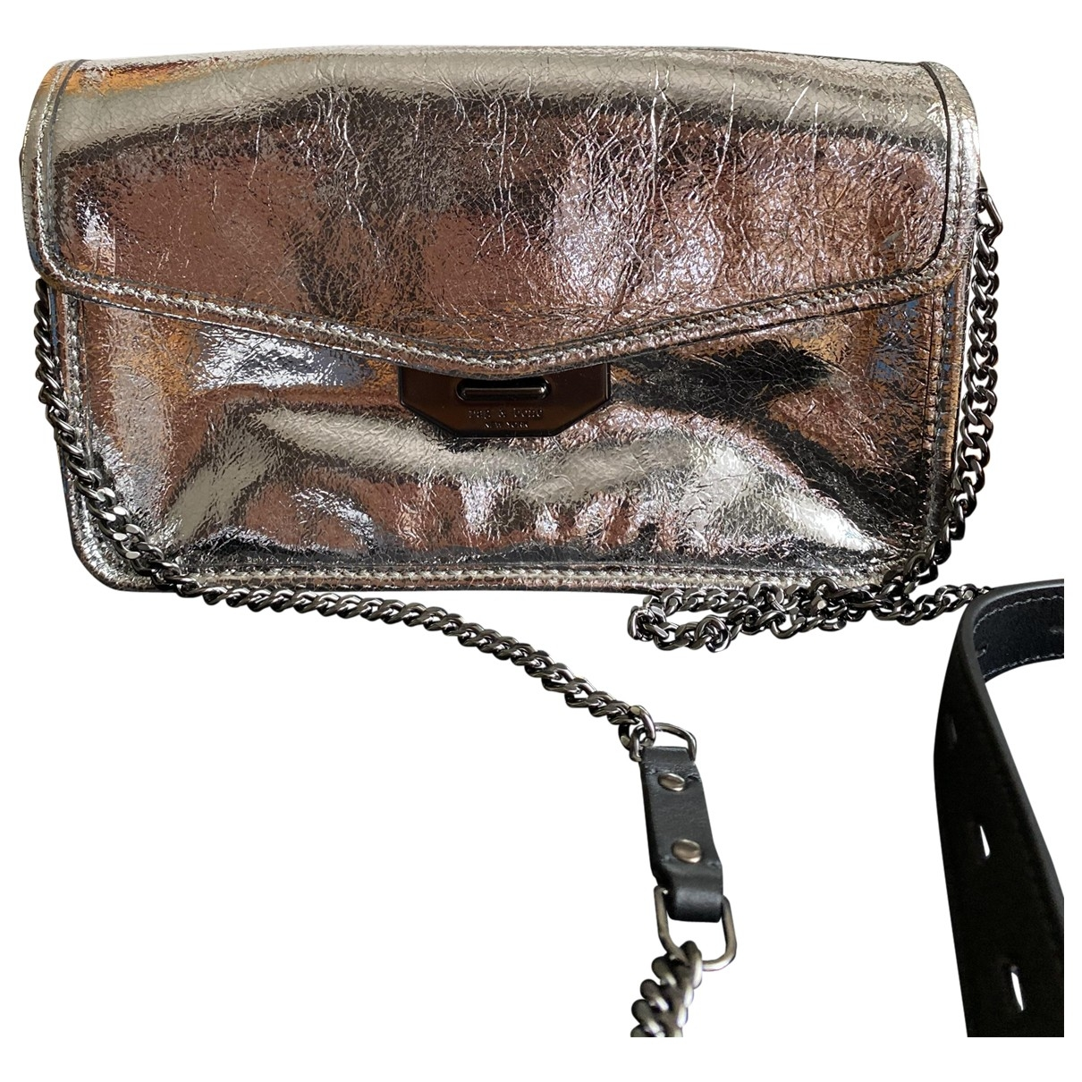 Rag & Bone \N Clutch in  Metallic Leder