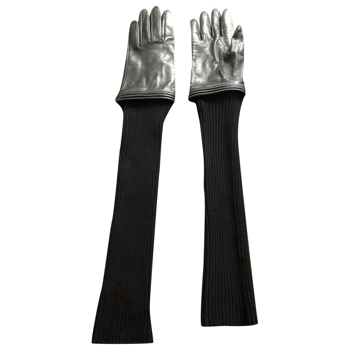 Jean Paul Gaultier \N Khaki Leather Gloves for Women 7 Inches