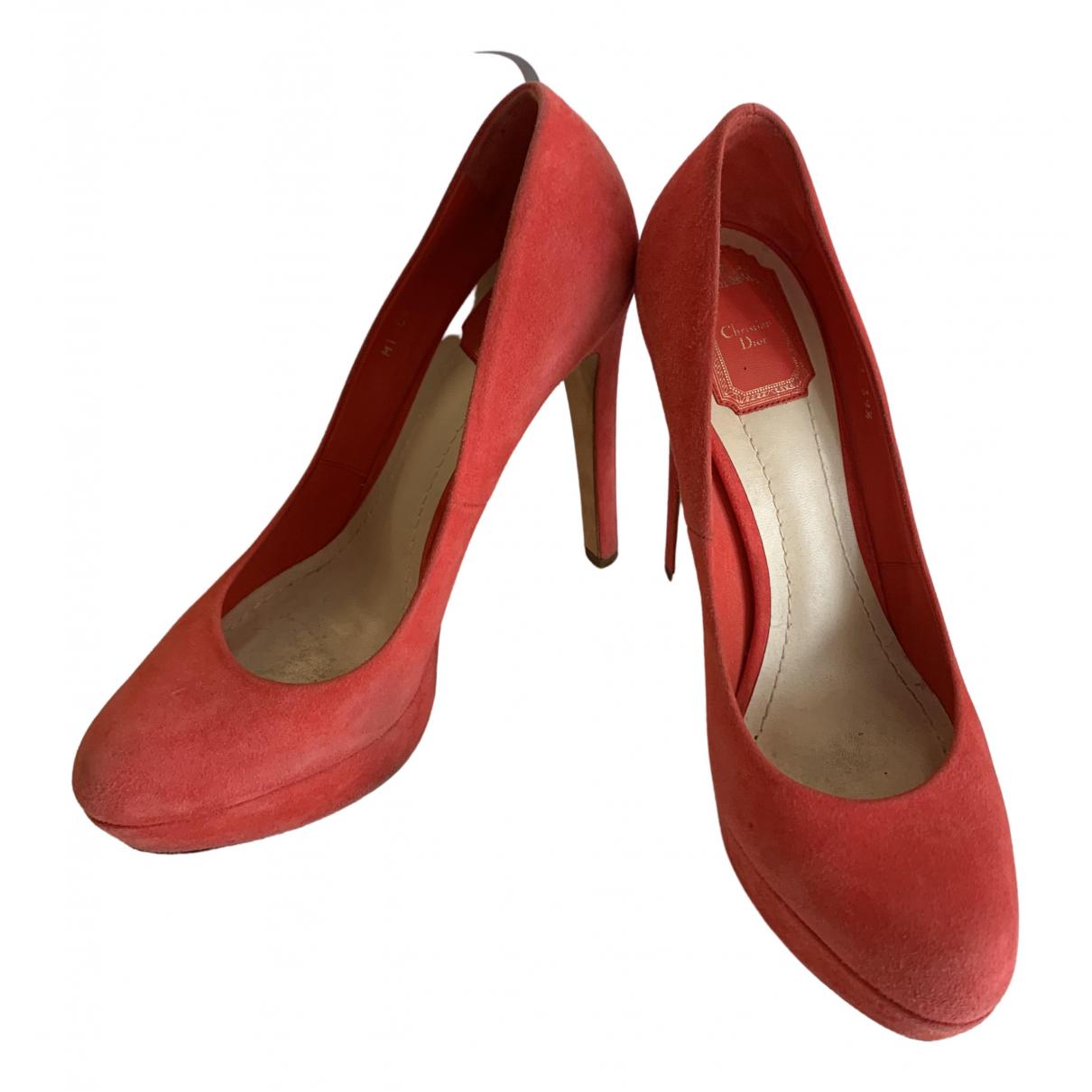 Dior \N Red Suede Heels for Women 39.5 EU