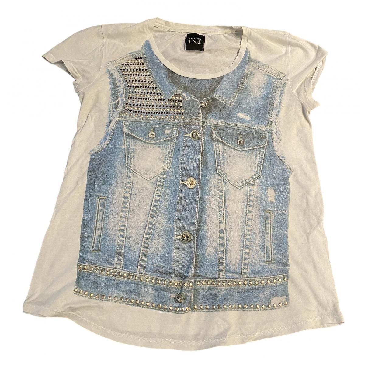 Twin Set - Top   pour femme en coton - blanc