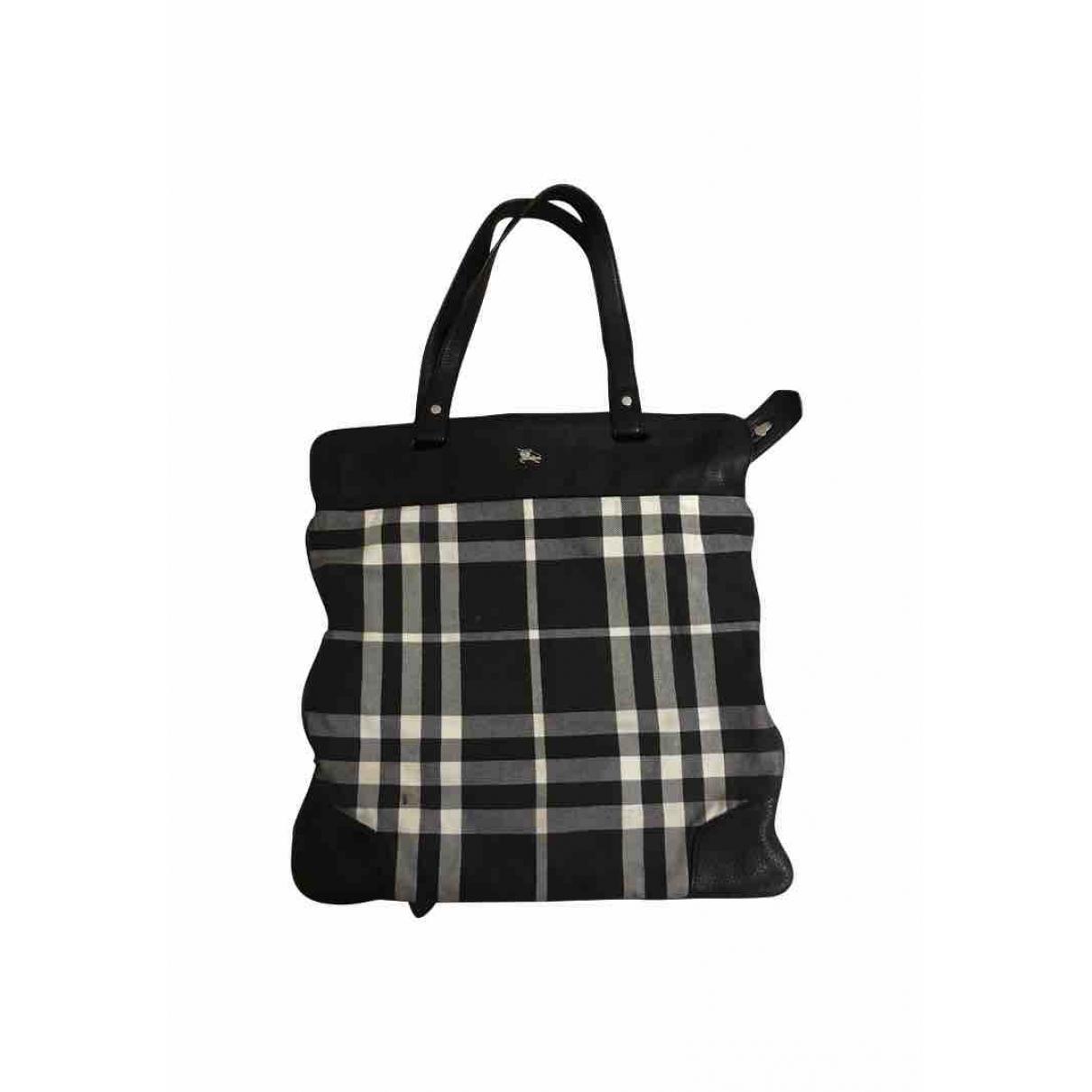 Burberry \N Black Cotton handbag for Women \N