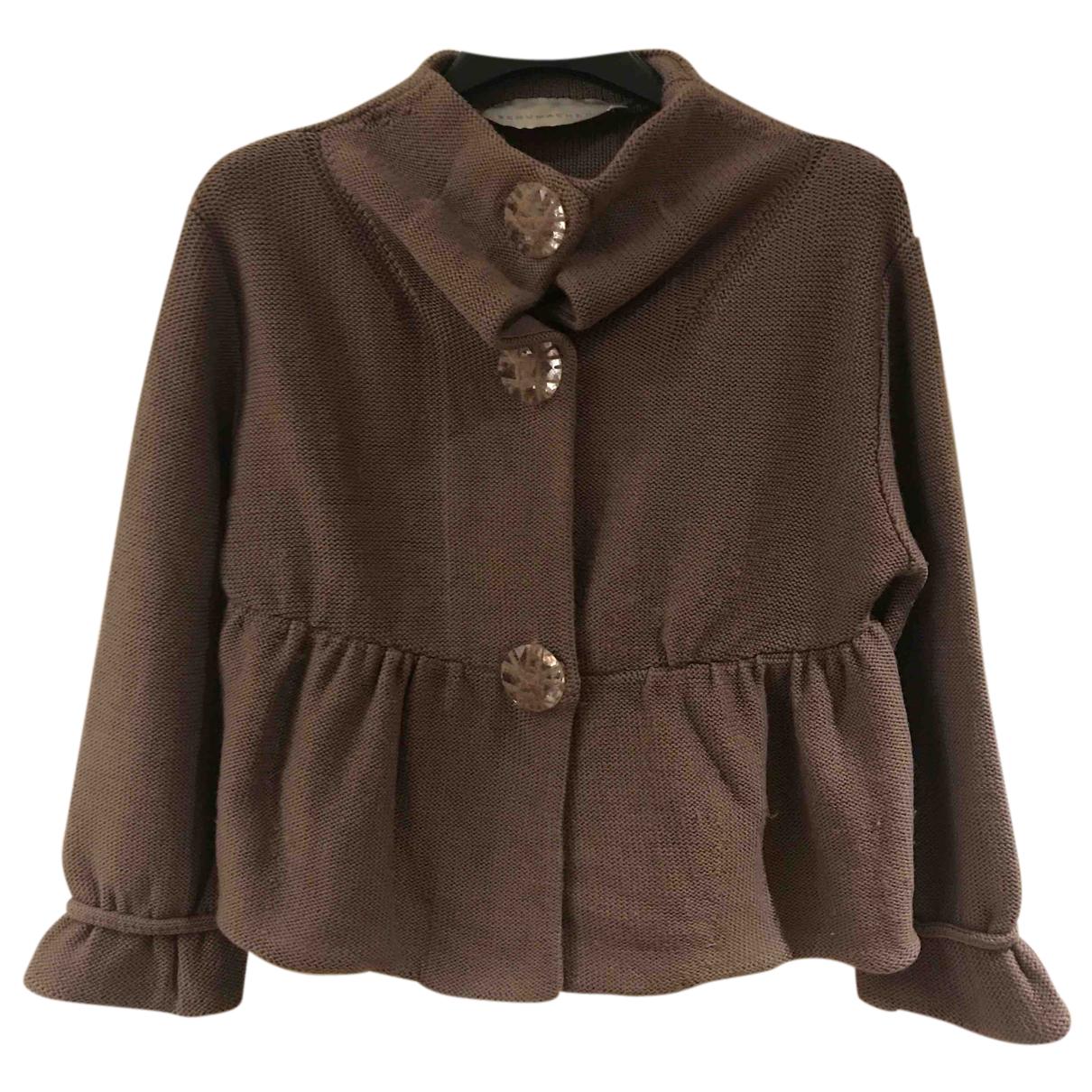 Schumacher - Pull   pour femme en laine - marron