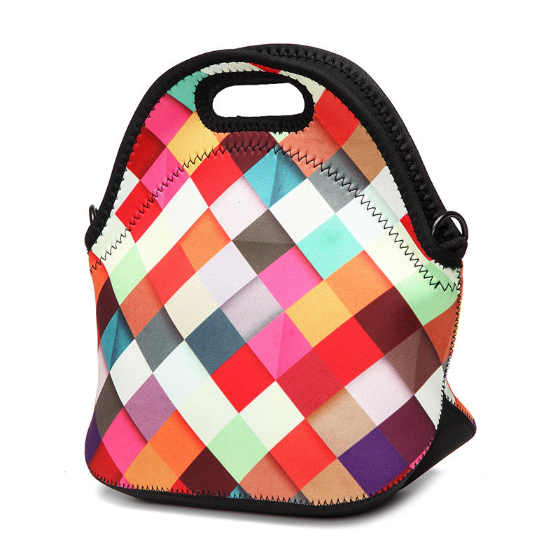 Outdoors Travel Picnic Bag Stretchy Neoprene Insulated Lunch Bag Tote Bag Reusable Shopping Bag