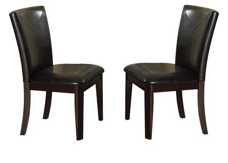 Gable Collection 71987 Set of 2 Side Chairs with Contemporary Style  Tapered Legs