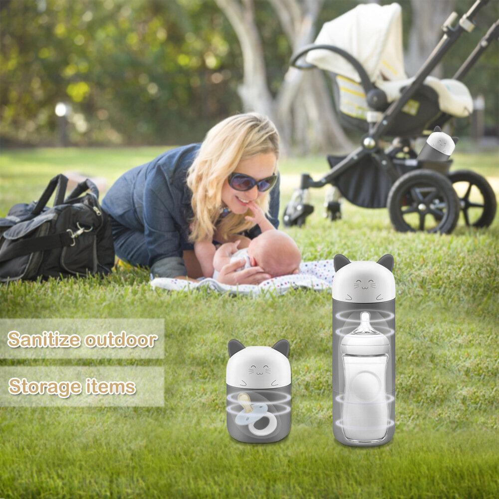 Portable UV Baby Cartoon Bottle Sterilizer Bottle Pacifier Disinfector Multi-functional Sanitizer