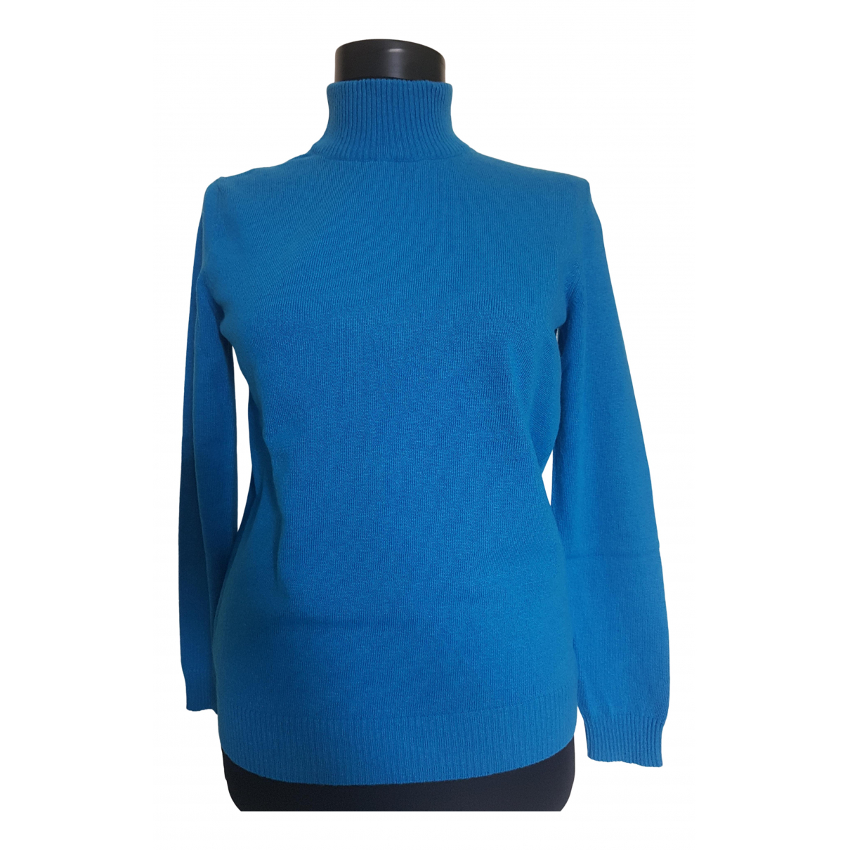Max Mara Weekend - Pull   pour femme en laine - bleu