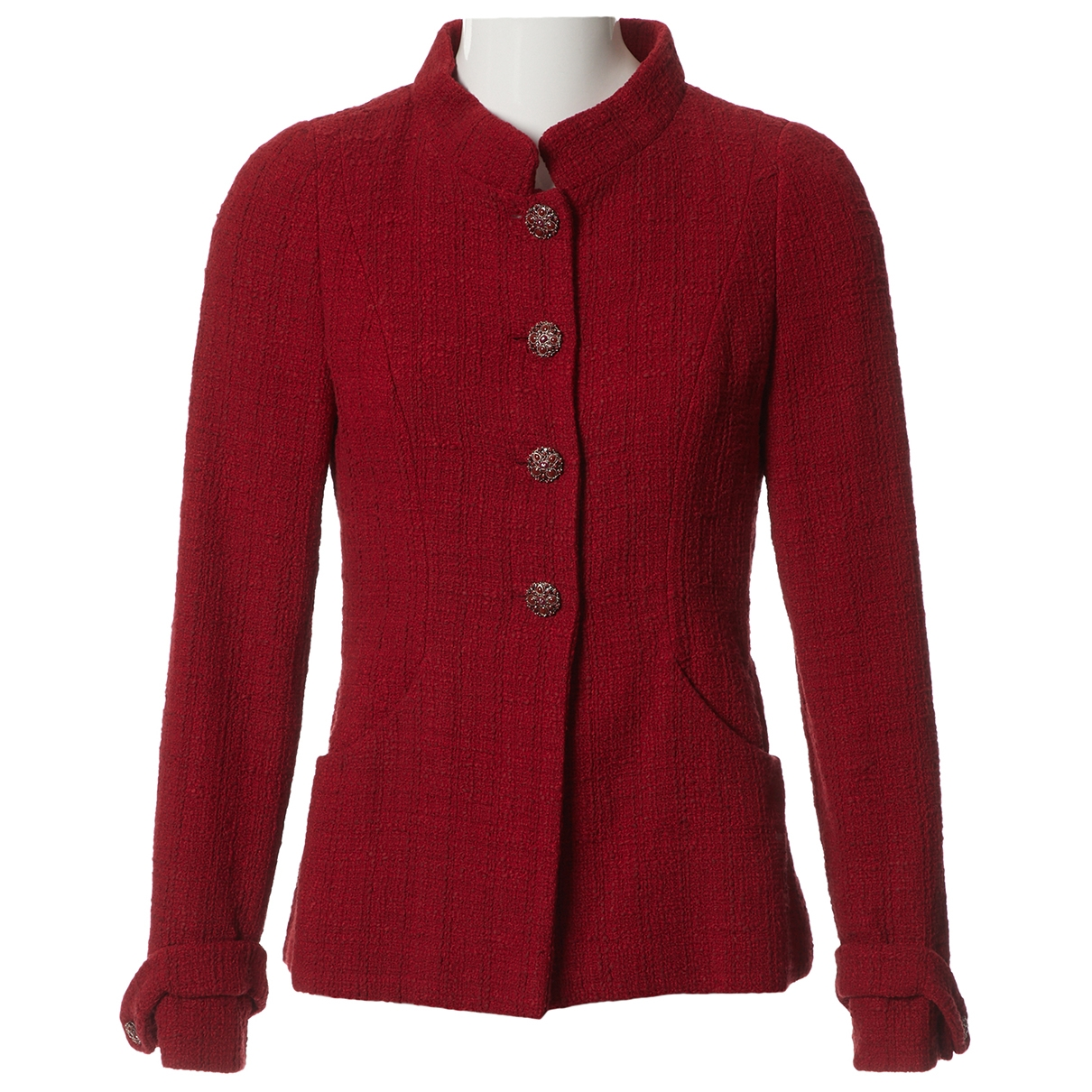 Chanel \N Red Tweed jacket for Women 38 FR