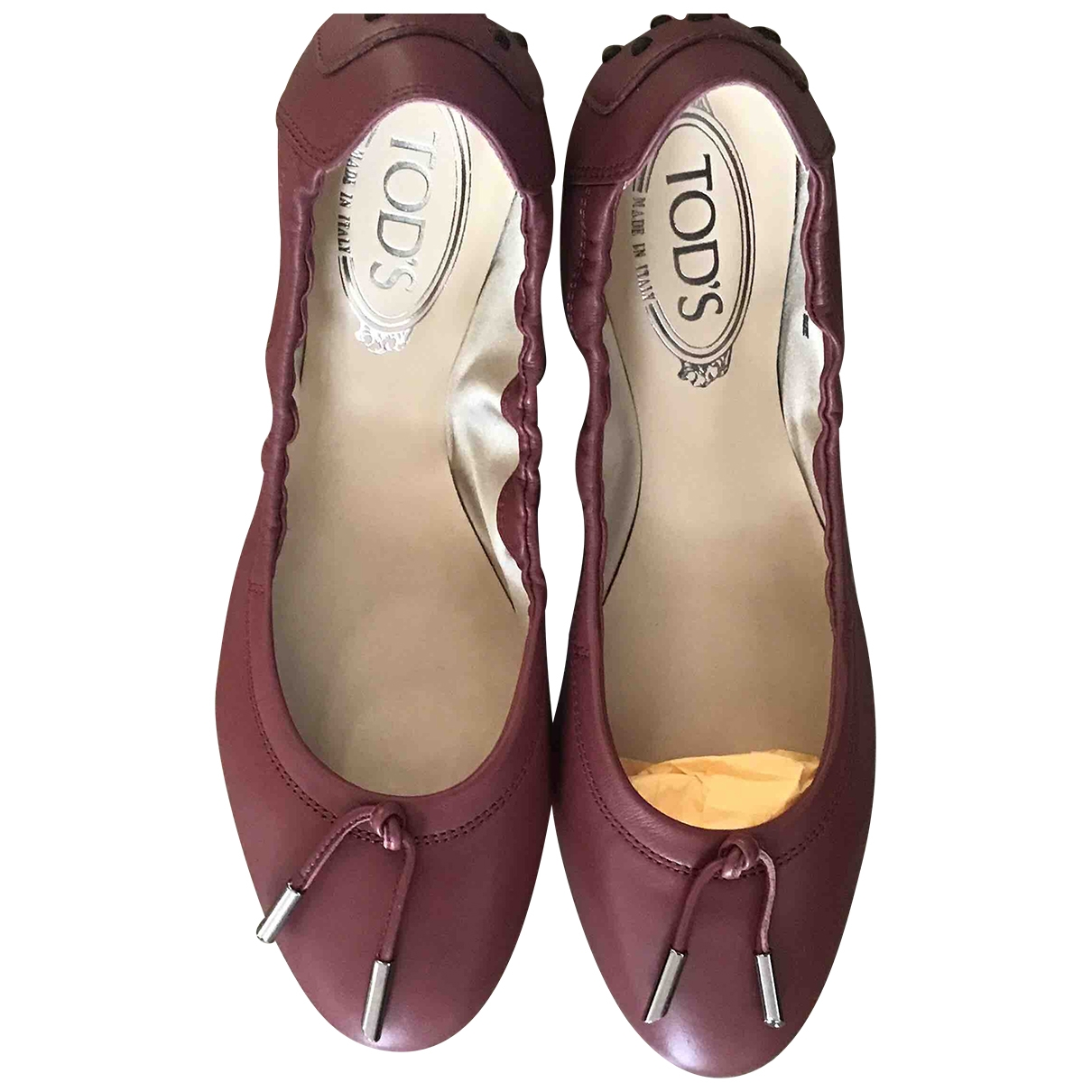 Tod's \N Leather Ballet flats for Women 38 IT