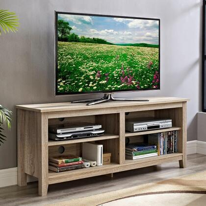 W58CSPNT 58 Natural Wood TV Stand