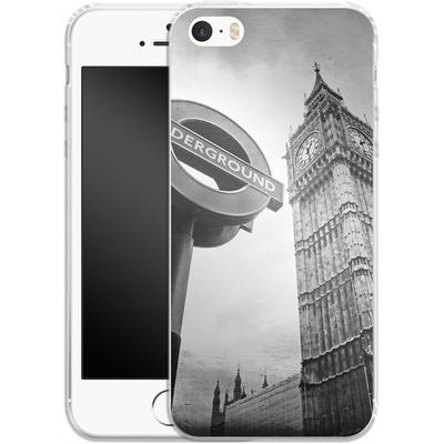 Apple iPhone 5s Silikon Handyhuelle - Big Ben & Underground von Ronya Galka