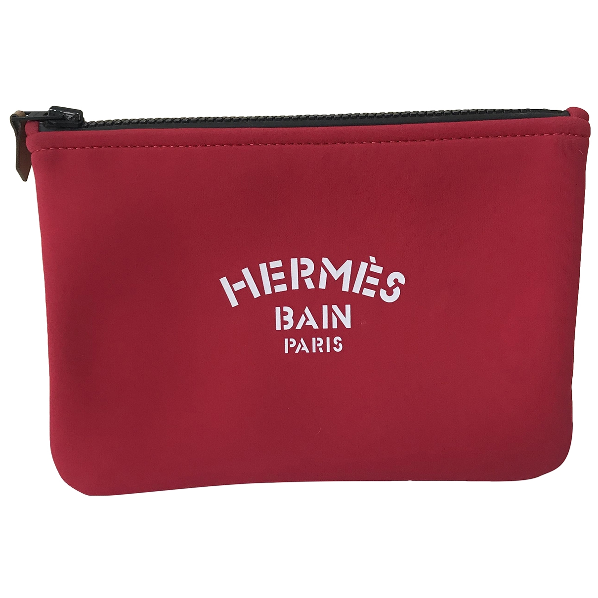 Hermes \N Clutch in  Rot Leinen