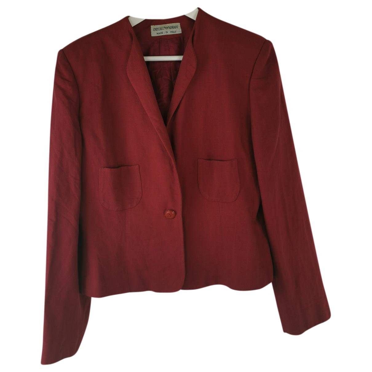 Emporio Armani - Veste   pour femme en coton - rouge