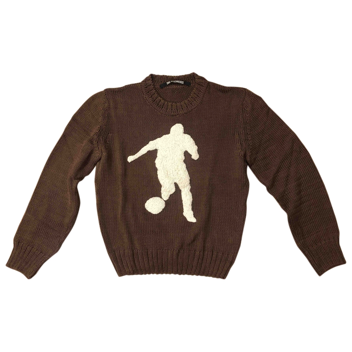 Dirk Bikkembergs \N Pullover.Westen.Sweatshirts  in  Braun Baumwolle