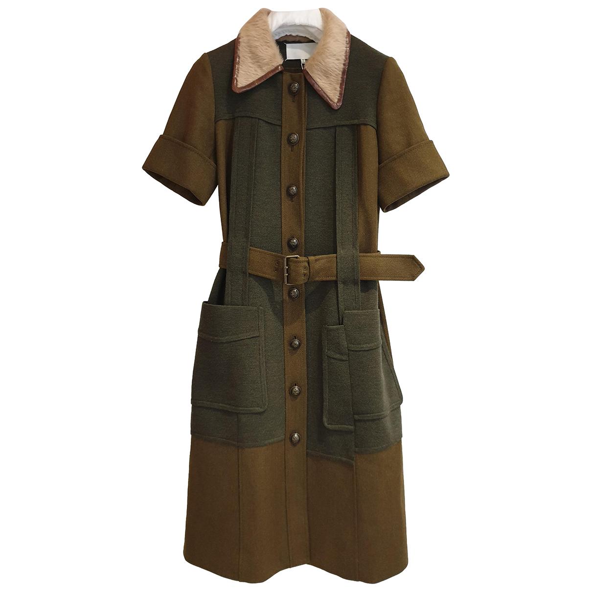 Maison Martin Margiela - Robe   pour femme en laine - kaki