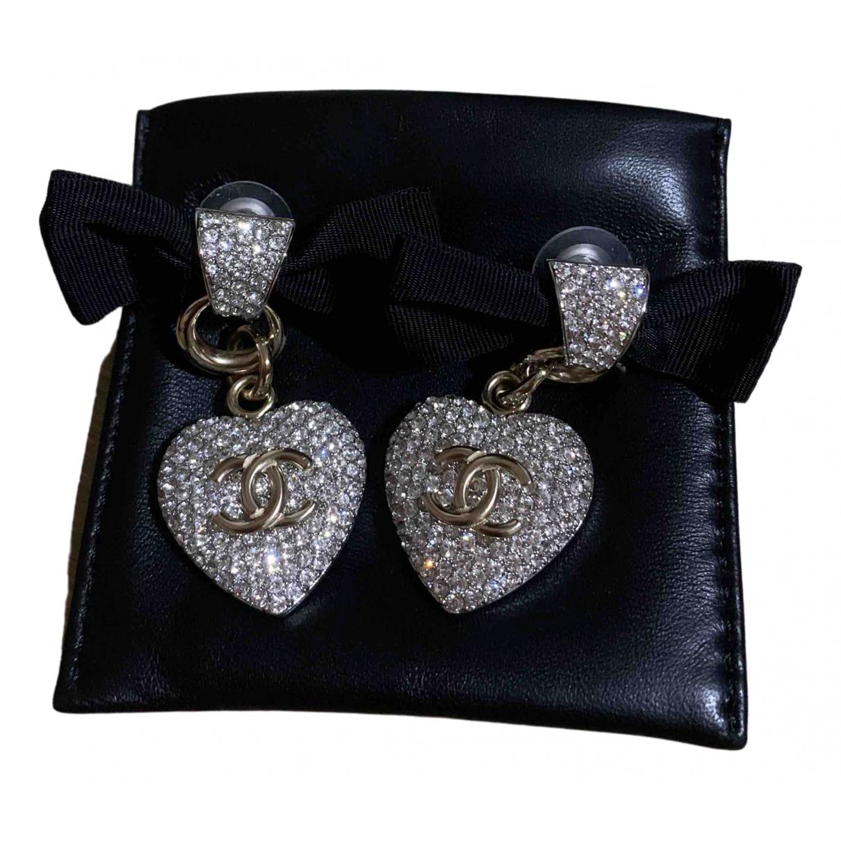 Chanel - Boucles doreilles   pour femme en cristal - argente