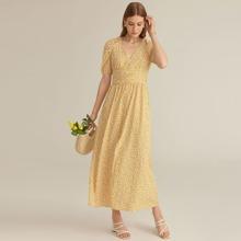 PREMIUM Maxi Kleid mit Raglanaermeln und Blumen Muster