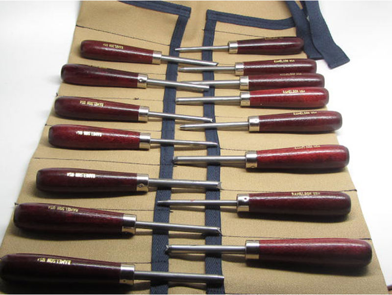 15pc Oval, Round & MM Carvers Punches w/Tool Roll