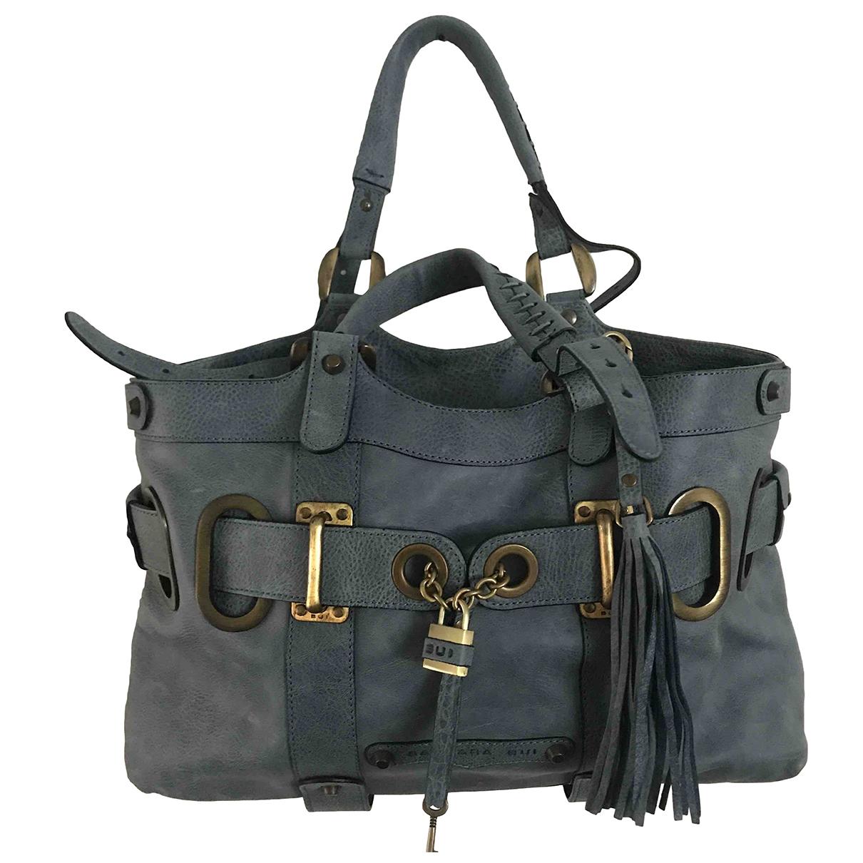 Barbara Bui \N Handtasche in  Blau Leder