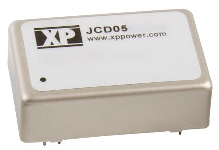 XP Power JCD 5W Isolated DC-DC Converter Through Hole, Voltage in 9 → 18 V dc, Voltage out 15V dc