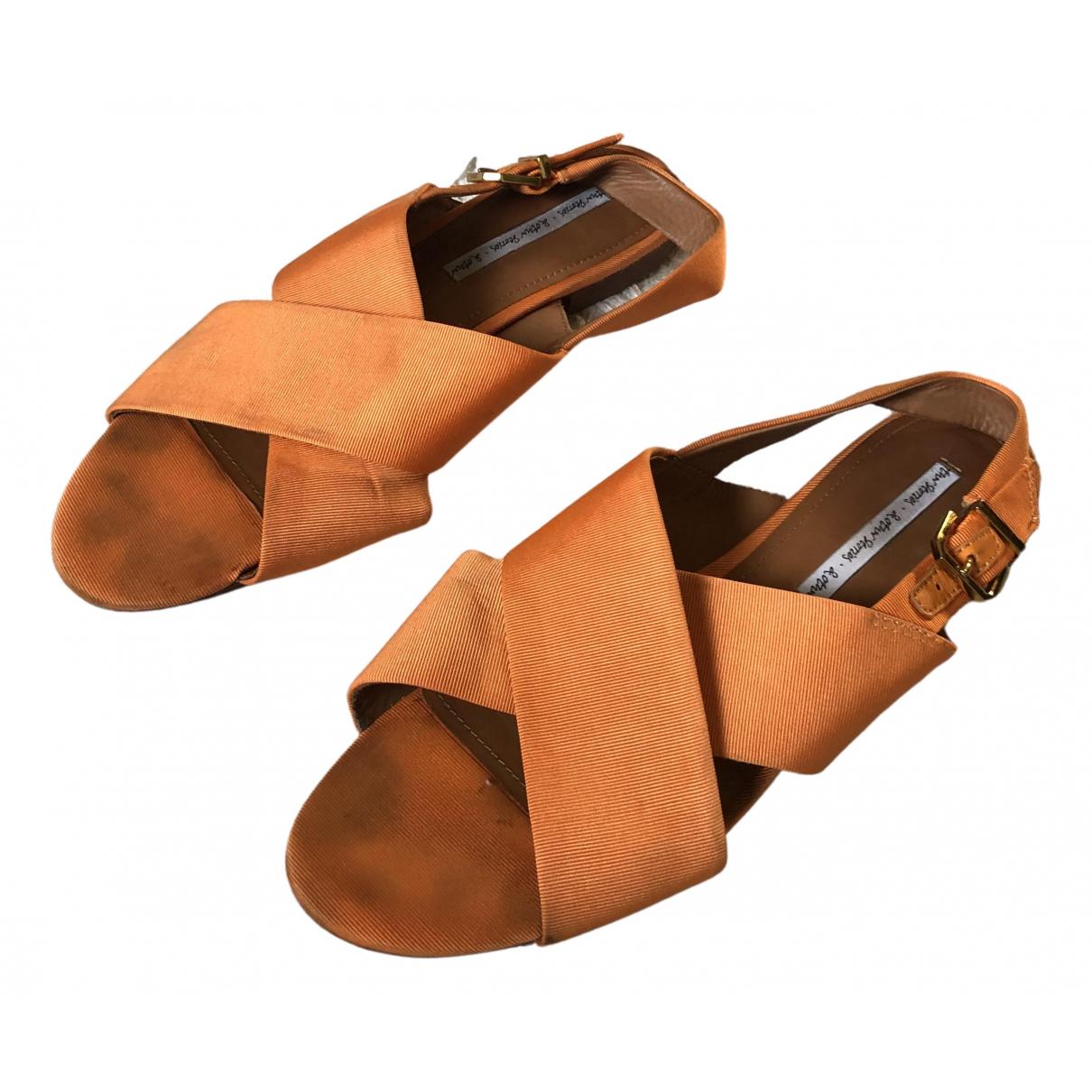 & Stories N Orange Cloth Flats for Women 40 EU