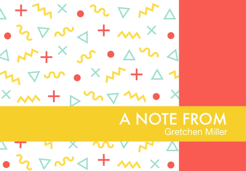 Matching Designs 3.5x5 Folded Notecard, Card & Stationery -Memphis Pattern